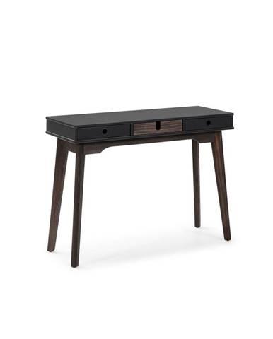 Sivý konzolový stolík s nohami z borovicového dreva Marckeric Kiara