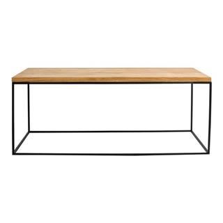 Konferenčný stolík s čiernou konštrukciou Custom Form Tensio, 100 x 60 cm