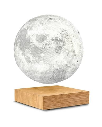 Stolová levitujúca lampa v tvare mesiaca Gingko Moon White Ash