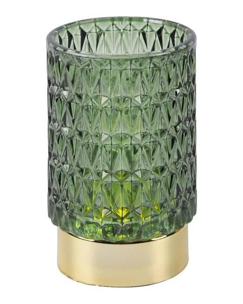 PT LIVING Zelená LED sklenená stolová lampa PT LIVING Diamond