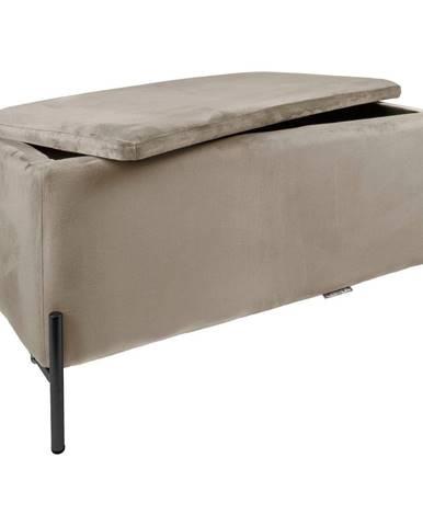 Béžová lavica s úložným priestorom Leitmotiv Snog