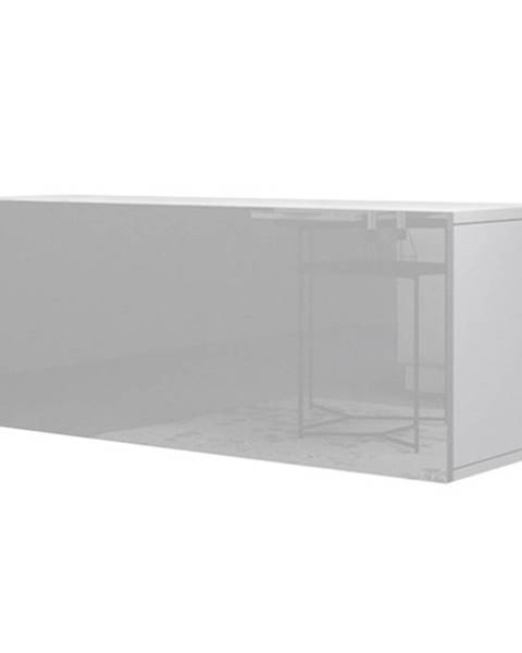 Sconto TV komoda VIVO VI 1 100 cm, biela vysoký lesk