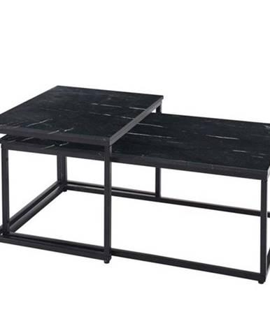 Konferenčný stolík KENO čierna/mramor