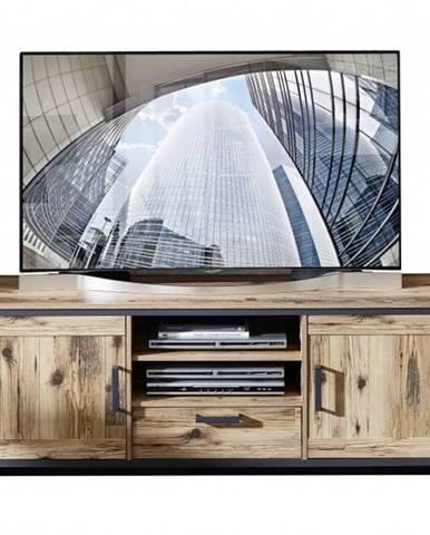 TV komoda PRATO alpine lodge/grafit, šírka 155 cm