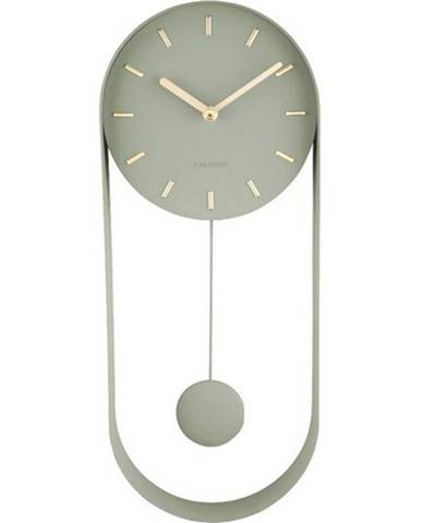 Karlsson 5822DG dizajnové kyvadlové nástenné hodiny, 50 cm