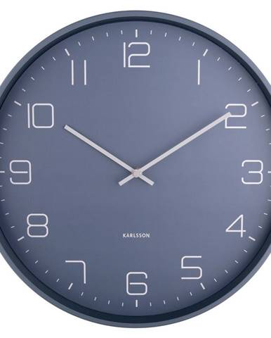 Karlsson 5751BL dizajnové nástenné hodiny, pr. 40 cm