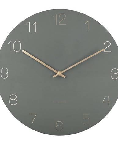 Karlsson 5762GR dizajnové nástenné hodiny, pr. 40 cm