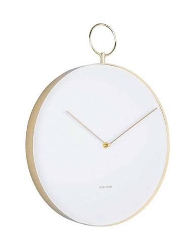 Karlsson 5765WH dizajnové nástenné hodiny, pr. 34 cm