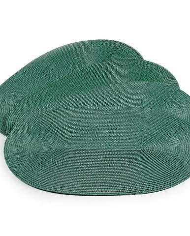JAHU Prestieranie Deco ovál trávovo zelená, 30 x 45 cm, sada 4 ks