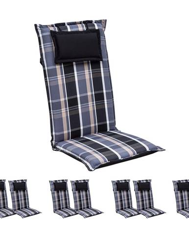 Blumfeldt Elbe, čalúnená podložka, podložka na stoličku, podložka na vyššie polohovacie kreslo, na záhradnú stoličku, Dralon, 50 × 120 × 8 cm
