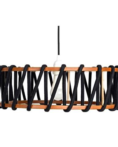 Čierne stropné svietidlo EMKO Macaron, ø 45 cm