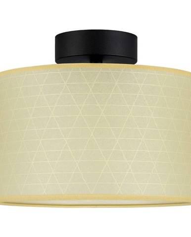 Béžové stropné svietidlo so vzorom trojuholníkov Sotto Luce Taiko