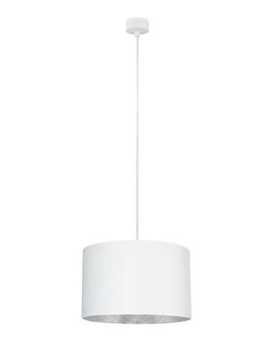 Biele stropné svietidlo s vnútrajškom v striebornej farbe Sotto Luce Mika, ⌀36 cm