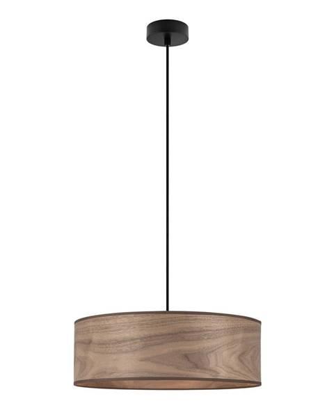 Sotto Luce Závesné svietidlo s tienidlom z dreva orechu Sotto Luce TSURI XL
