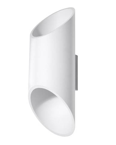 Biele nástenné svietidlo Nice Lamps Nixon, dĺžka 30 cm
