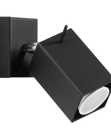 Čierne nástenné svietidlo Nice Lamps Toscana