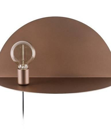 Hnedé nástenné svietidlo s poličkou Homemania Decor Shelfie