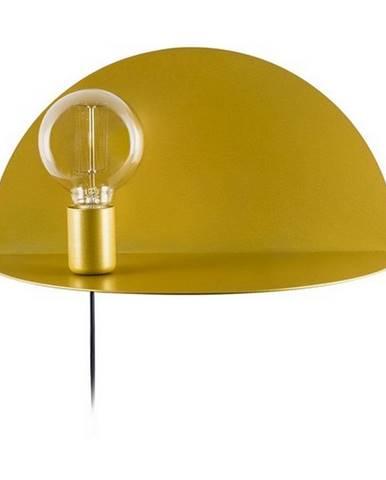 Nástenné svietidlo s poličkou v zlatej farbe Homemania Decor Shelfie, dĺžka 20 cm
