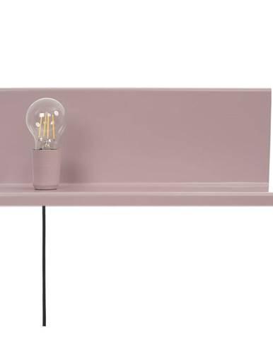 Ružové nástenné svietidlo s poličkou Homemania Decor Shelfie2