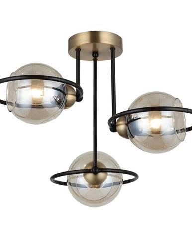 Stropné svietidlo v čierno-zlatej farbe Homemania Decor Ringo Tres