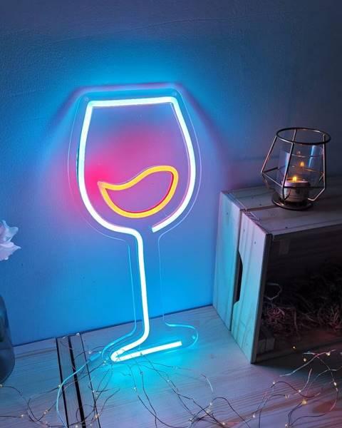 Candy Shock Modro-červená nástenná svietiaca dekorácia Candy Shock Wine