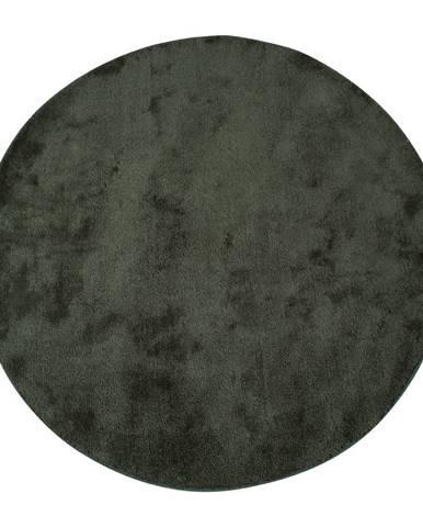 Zelený okrúhly koberec HoNordic Florida, ø 120 cm