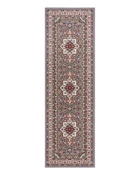 Nouristan Sivý koberec Nouristan Parun Tabriz, 80 x 250 cm