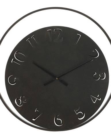 Čierne nástenné hodiny Mauro Ferretti Circle, ⌀ 60 cm