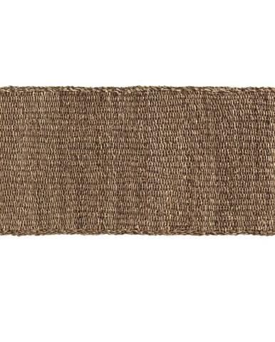Hnedý koberec z morských rias Geese Rustico Natura, 60 × 120 cm