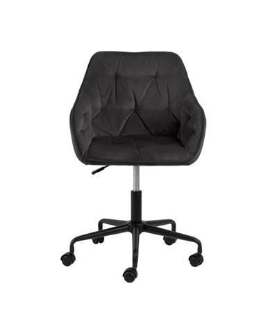 Sivohnedá kancelárska stolička so zamatovým povrchom Actona Brooke