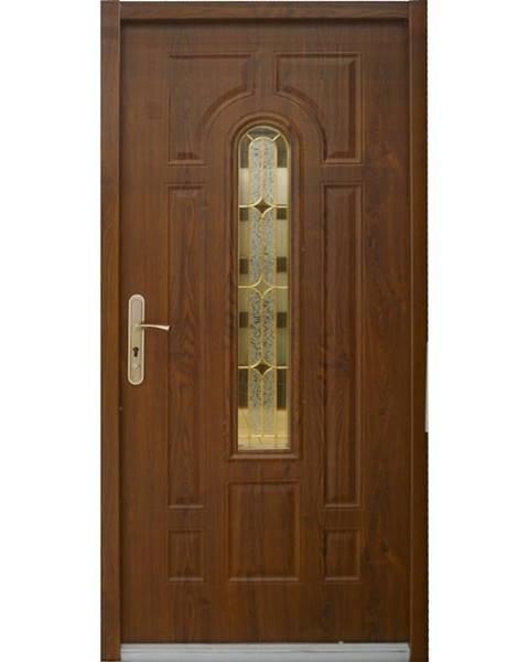 MERKURY MARKET Dvere vchodové MX Eris 90P zlatý dub pp