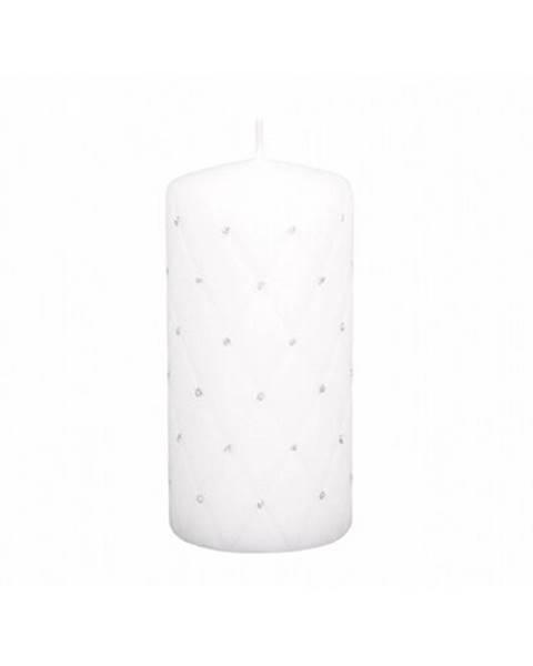 4Home Dekoratívna sviečka Florencia biela, 14 cm