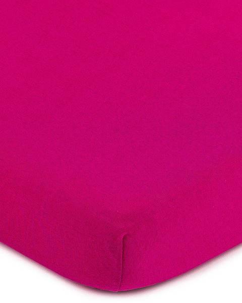 4Home 4Home jersey prestieradlo ružová, 90 x 200 cm
