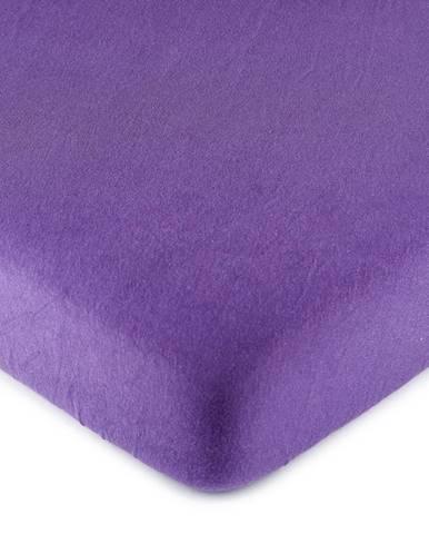 4Home jersey prestieradlo fialová, 160 x 200 cm