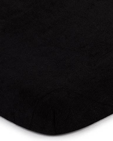 4home froté prestieradlo čierna, 180 x 200 cm