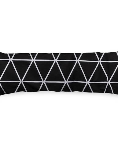 4Home Obliečka na Relaxačný vankúš Náhradný manžel Galaxy čiernobiela, 55 x 180 cm