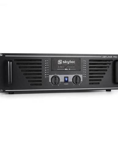 PA zosilňovač Skytec AMP–2000, 3200 W, s čiernym koncovým st