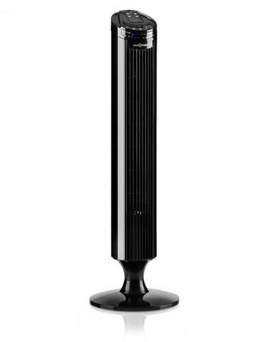OneConcept Blitzeis, stĺpový ventilátor, 50 W, 45° oscilácia, čierny