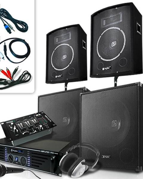 Skytec Skytec Bass Mountain USB, DJ PA systém, 2000 W, 4 x reproduktor, zosilňovač, mixážny pult