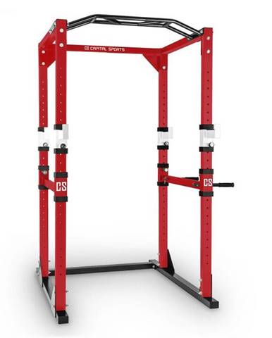 Capital Sports Tremendour Power Rack, červeno-biely, domáca posilňovňa, oceľ