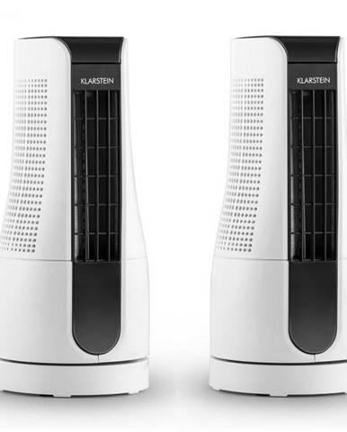 Klarstein Skyscraper Office, stĺpový ventilátor, sada 2 ks, 16 W, dotykový, biely