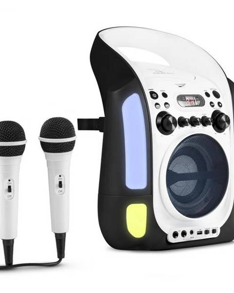 Auna Auna Kara Illumina, čierny, karaoke systém, CD, USB, MP3, LED svetelná show, 2 x mikrofón, prenosný