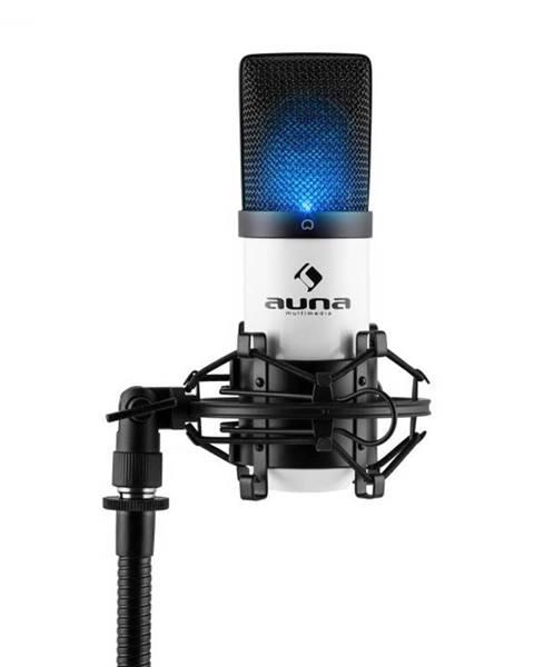 Auna Auna Pro MIC-900-WH LED, biely, USB, kondenzátorový mikrofón, kardioidný, štúdiový, LED