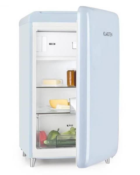 Klarstein Klarstein PopArt Blue, retro chladnička A++, 108 l / 13 l mraziarenský priestor, modrá