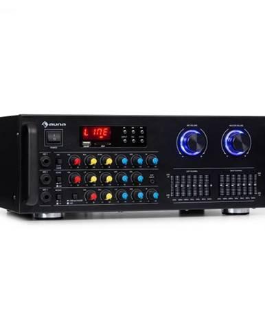 Auna Pro Amp-Pro1 BT, PA zosilňovač, RMS 2 x 50 W, BT, USB, SD, 2-kanálový 7-pásmový ekvalizér