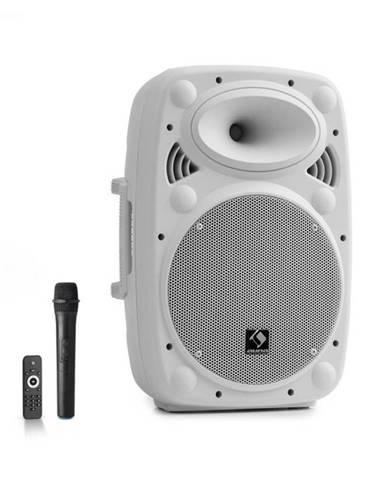 "Auna Pro Streetstar 10, mobilný PA systém, 10"" (25.5 cm), UHF mikrofón, 400 W max., biely"