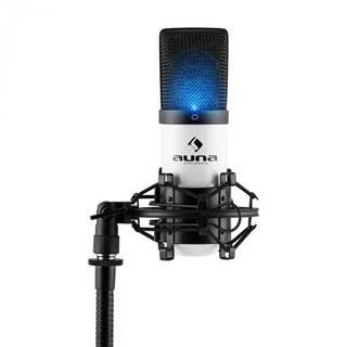 Auna Pro MIC-900-WH LED, biely, USB, kondenzátorový mikrofón, kardioidný, štúdiový, LED