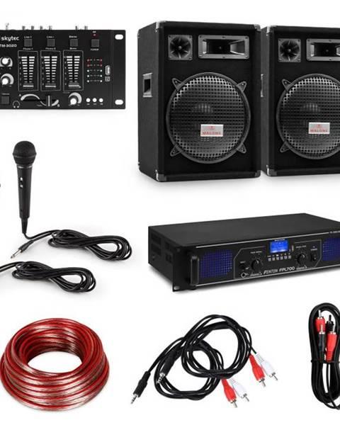 """Electronic-Star Electronic-Star HiFi DJ PA párty sada, zosilňovač, 2 x 12"""" reproduktor, mixážny pult, 2 mikrofóny"""