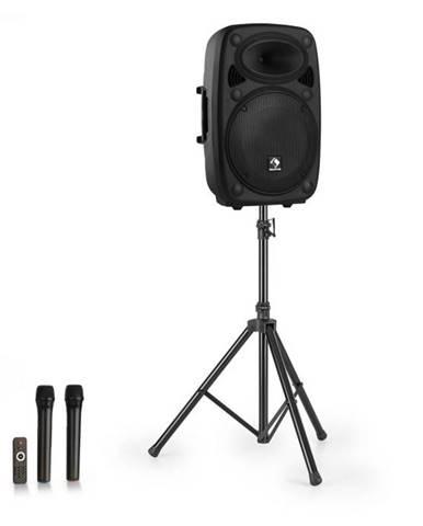 """Auna Streetstar 15, mobilný PA systém + statív, 15"""" woofer, UHF mikrofón, 1000 W, čierny"""