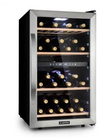 Klarstein Vinamour 45D, vinotéka, 2 zóny, 118 litrov/45 fliaš, 5 – 18 °C, ušľachtilá oceľ